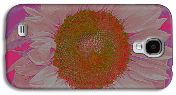 Pinks And Purple Petals Photographs Galaxy S4 Cases - Sunflower in Pink and Purple Pop Art Galaxy S4 Case by  Photographic Art and Design by Dora Sofia Caputo