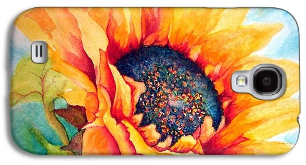Cheer On Galaxy S4 Cases - Sunflower Joy Galaxy S4 Case by Janine Riley