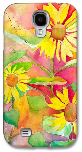 Sunflower Galaxy S4 Case by Kelly Perez