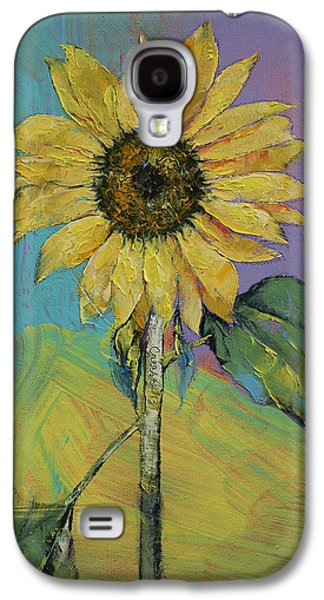 Sunflower Paintings Galaxy S4 Cases - Sunflower Galaxy S4 Case by Michael Creese