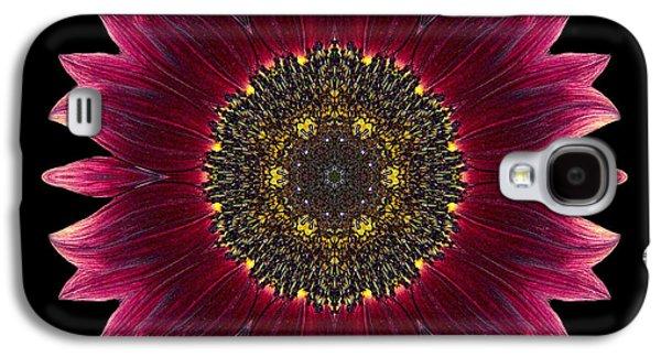 David J Bookbinder Galaxy S4 Cases - Sunflower Moulin Rouge I Flower Mandala Galaxy S4 Case by David J Bookbinder