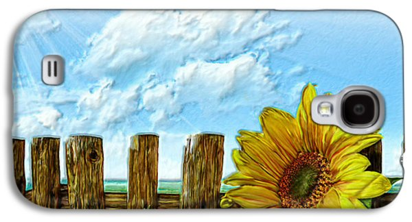 Sunflower Patch Galaxy S4 Cases - Sunflower on a cool Autumn Day Galaxy S4 Case by Bruce Nutting