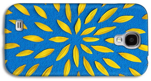 Sunflower Petals Pattern Galaxy S4 Case by Tim Gainey