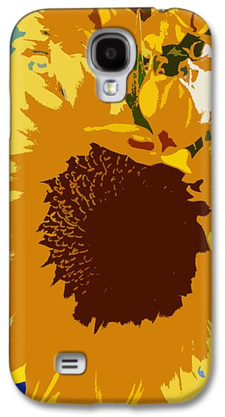 Original Art Photographs Galaxy S4 Cases - Sunflower Pop Galaxy S4 Case by Colleen Kammerer