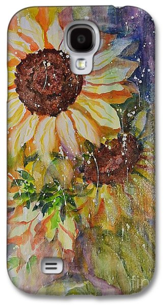 Floral Ceramics Galaxy S4 Cases - Sunflower Rain Galaxy S4 Case by Kathleen Pio