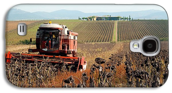 Machinery Galaxy S4 Cases - Sunflower Seed Harvest Galaxy S4 Case by Tim Holt