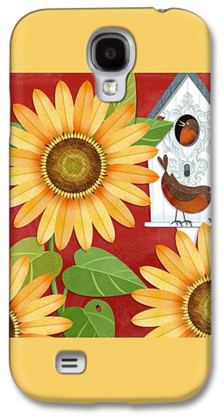 Sunflower Surprise Galaxy S4 Case by Valerie Drake Lesiak