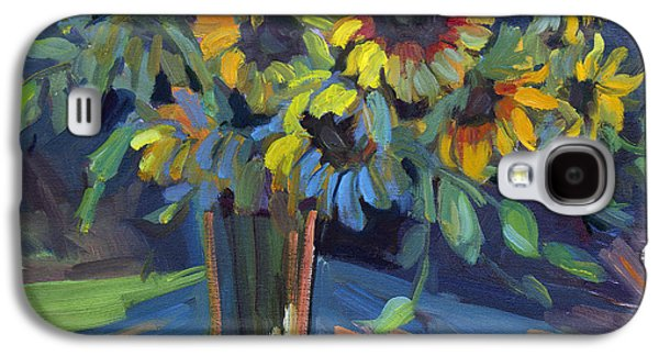 Floral Still Life Paintings Galaxy S4 Cases - Sunflowers Galaxy S4 Case by Diane McClary
