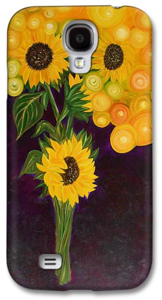 Recently Sold -  - Surreal Landscape Galaxy S4 Cases - Sunflowers Dream Galaxy S4 Case by Yesi Casanova
