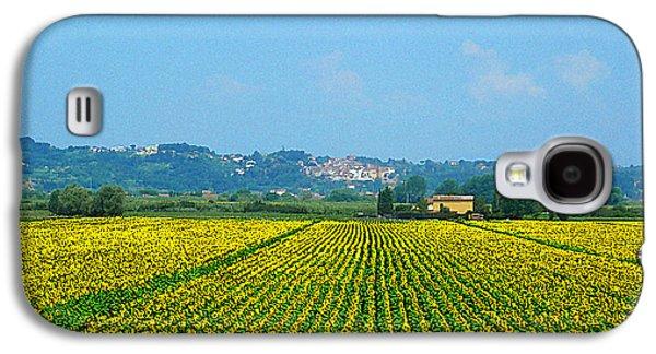 Sunflower Fields Galaxy S4 Cases - Sunflowers Field of Tuscany Italy Galaxy S4 Case by Irina Sztukowski