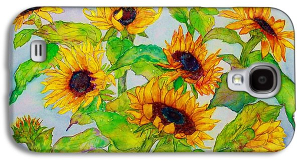 Wild Orchards Galaxy S4 Cases - Sunflowers in a Field Galaxy S4 Case by Janet Immordino