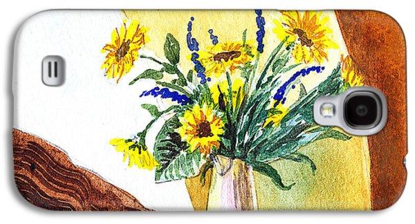 Sunflower Paintings Galaxy S4 Cases - Sunflowers In A Pitcher Galaxy S4 Case by Irina Sztukowski