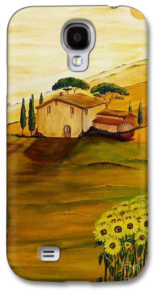 Sunflowers In Tuscany Galaxy S4 Case by Christine Huwer