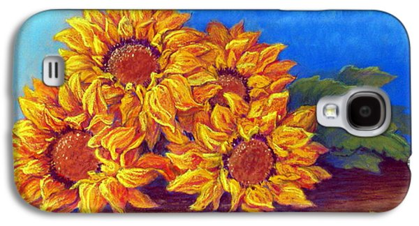 Still Life Pastels Galaxy S4 Cases - Sunflowers of Fall Galaxy S4 Case by Tanja Ware