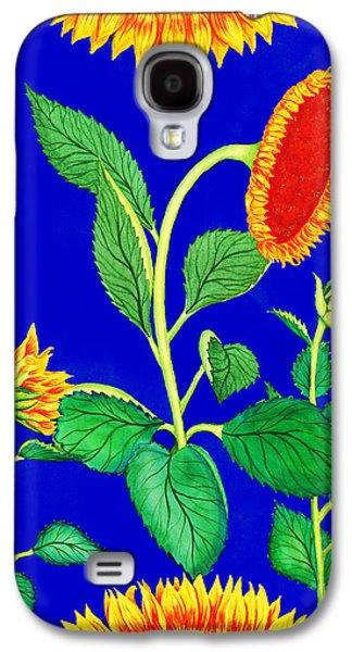 Sunflower Fields Galaxy S4 Cases - Sunflowers Galaxy S4 Case by Palmer Stinson