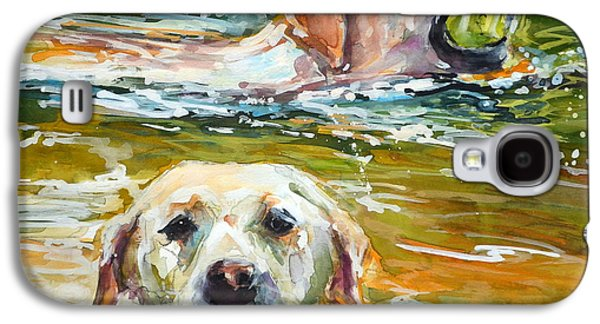 Dog Retrieving Galaxy S4 Cases - Sunkist Galaxy S4 Case by Molly Poole