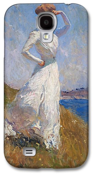 Windblown Paintings Galaxy S4 Cases - Sunlight Frank Weston Benson 1909 Galaxy S4 Case by Movie Poster Prints