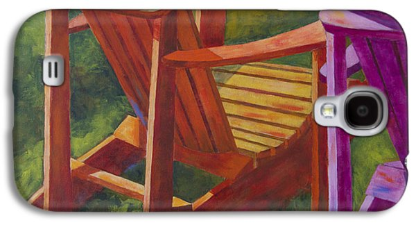 Leipers Fork Galaxy S4 Cases - Sunlight on Adirondack Chairs  Galaxy S4 Case by Arthur Witulski