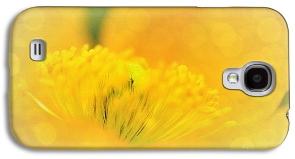 Sunlight On Flowers Galaxy S4 Cases - Sunlight on Poppy Abstract Galaxy S4 Case by Kaye Menner