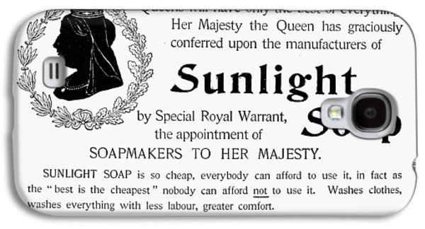 Sunlight Soap Ad, 1896 Galaxy S4 Case by Granger