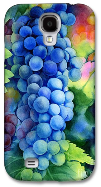Grape Vineyard Galaxy S4 Cases - Sunlit Grapes Galaxy S4 Case by Hailey E Herrera
