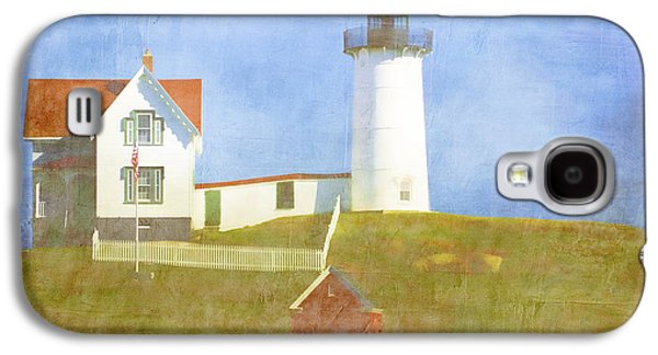 Cape Neddick Galaxy S4 Cases - Sunny Day at Nubble Lighthouse Galaxy S4 Case by Carol Leigh