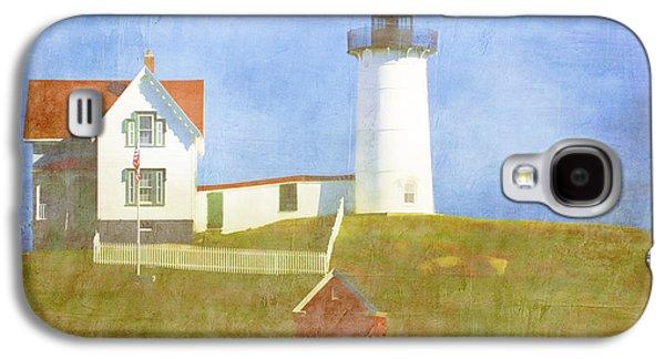 Cape Neddick Lighthouse Galaxy S4 Cases - Sunny Day at Nubble Lighthouse Galaxy S4 Case by Carol Leigh