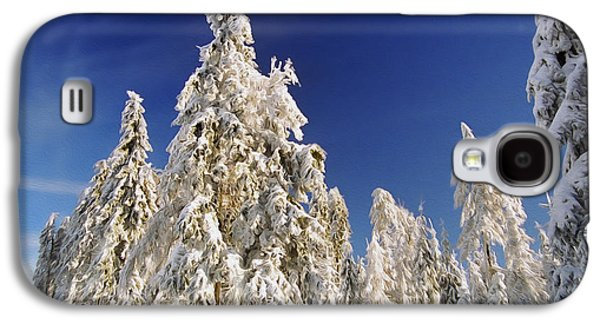 Snowy Digital Art Galaxy S4 Cases - Sunny Winter Day Galaxy S4 Case by Aged Pixel