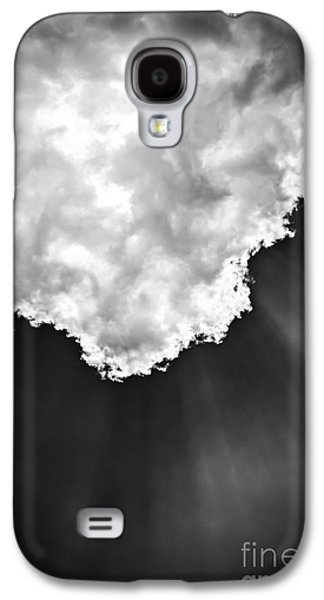 Cloudy Day Galaxy S4 Cases - Sunrays in black and white Galaxy S4 Case by Elena Elisseeva