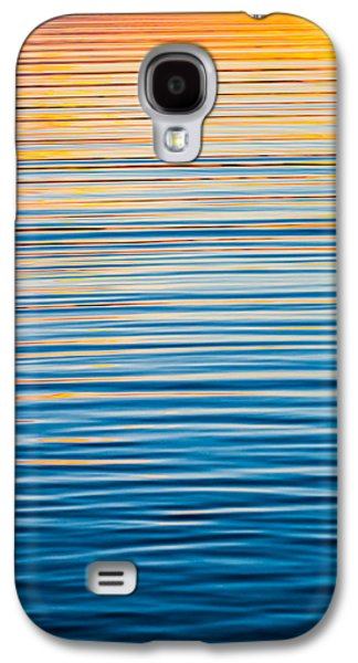 Blue Abstracts Galaxy S4 Cases - Sunrise Abstract On Calm Waters Galaxy S4 Case by Parker Cunningham
