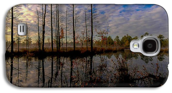 Pine Barrens Galaxy S4 Cases - Sunrise along the Mullica river in Pinelands Galaxy S4 Case by Louis Dallara
