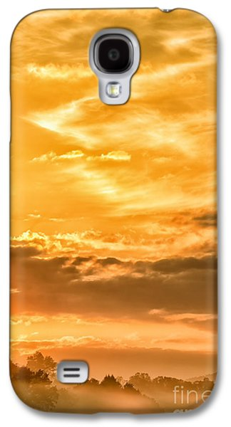 Colorful Cloud Formations Galaxy S4 Cases - Sunrise and Mountain Fog Galaxy S4 Case by Thomas R Fletcher