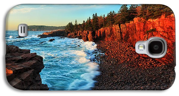Photographic Art Galaxy S4 Cases - Sunrise at Acadia Panorama Galaxy S4 Case by Bill Caldwell -        ABeautifulSky Photography