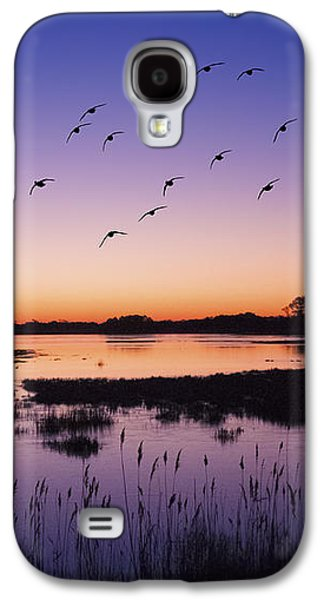 Sunrise At Assateague - Wetlands - Silhouette  Galaxy S4 Case by Shara Lee