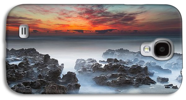 Sand Galaxy S4 Cases - Sunrise at Blowing Rocks Preserve Galaxy S4 Case by Andres Leon
