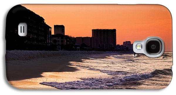 Surf Silhouette Galaxy S4 Cases - Sunrise at Destin Galaxy S4 Case by Joel P Black