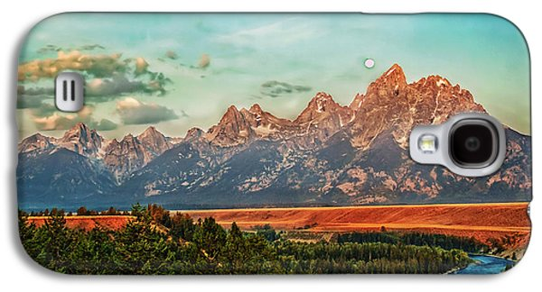Best Sellers -  - Haybale Galaxy S4 Cases - Sunrise At Grand Tetons Galaxy S4 Case by Robert Bales