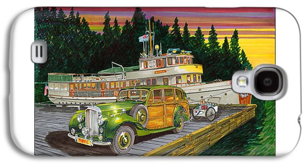 Boats At The Dock Galaxy S4 Cases - Sunrise at Port Madison Galaxy S4 Case by Jack Pumphrey