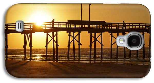 Topsail Galaxy S4 Cases - Sunrise at the Jolly Roger Pier 2 Galaxy S4 Case by Mike McGlothlen