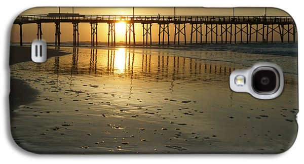 Topsail Galaxy S4 Cases - Sunrise at the Jolly Roger Pier Galaxy S4 Case by Mike McGlothlen