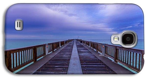 Panama City Beach Galaxy S4 Cases - Sunrise at the Panama City Beach Pier Galaxy S4 Case by David Morefield