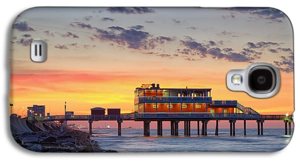 Sun Galaxy S4 Cases - Sunrise at the Pier - Galveston Texas Gulf Coast Galaxy S4 Case by Silvio Ligutti