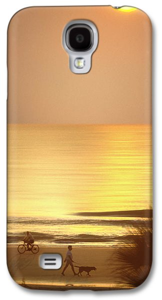 Dog Walking Galaxy S4 Cases - Sunrise at Topsail Island Panoramic Galaxy S4 Case by Mike McGlothlen
