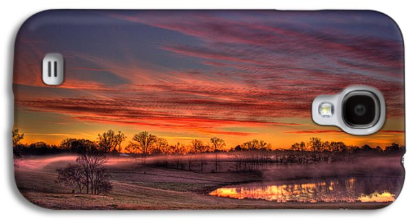 Pastureland Galaxy S4 Cases - Other Worldly Sunrise Galaxy S4 Case by Reid Callaway