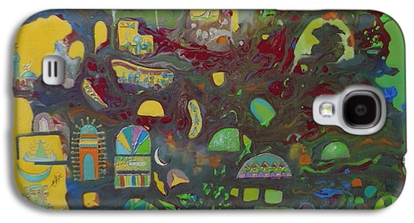Baghdad Paintings Galaxy S4 Cases - Sunrise City Galaxy S4 Case by Hira Bosh