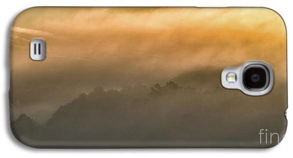 Colorful Cloud Formations Galaxy S4 Cases - Sunrise Fog Appalachian Mountains Galaxy S4 Case by Thomas R Fletcher