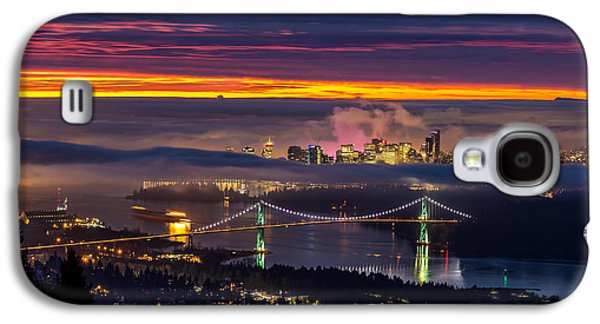 Burrard Inlet Galaxy S4 Cases - Sunrise from West Vancouver Galaxy S4 Case by Pierre Leclerc Photography