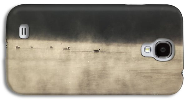 Duo Tone Galaxy S4 Cases - Sunrise Geese Galaxy S4 Case by Melissa Petrey