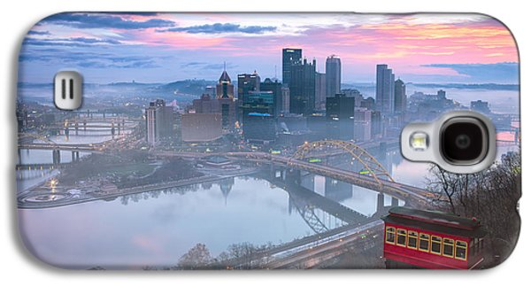 Pittsburgh Galaxy S4 Cases - Sunrise in Pittsburgh Pa  Galaxy S4 Case by Emmanuel Panagiotakis