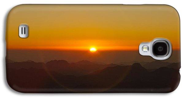 Bible Pyrography Galaxy S4 Cases - Sunrise in Sinai Mountains Galaxy S4 Case by Julis Simo